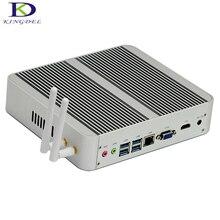 Новый Intel i3 7100U безвентиляторный металлический корпус мини-компьютер Windows 10 Linux 4 К HTPC HDMI VGA Max 16 г Оперативная память 300 м Wi-Fi неттоп pc