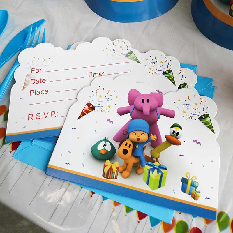 Loula Pato Props Party-In-A-Box Sleepy Bird Elly 8 Pocoyo and Friends Mini Pi\u00f1ata Decorations