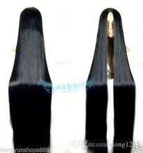 hot deal buy  free shipping wigs>< cosplay wig 150cm long straight hair wig black wig costume stage television