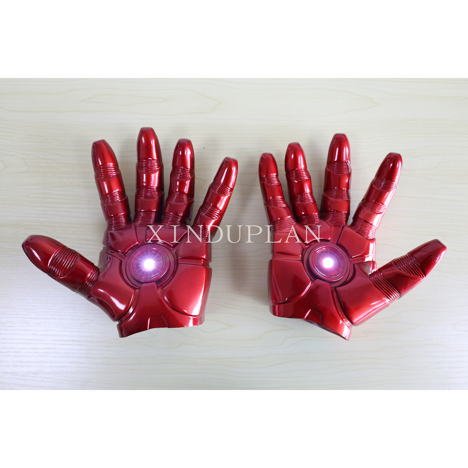 XINDUPLAN Marvel Shield Movie Avengers iron Man Gloves Light Cosplay Action Figure Toys Juguete 1/1 20cm Collection Model 0296 new hot 17cm avengers thor action figure toys collection christmas gift doll with box j h a c g