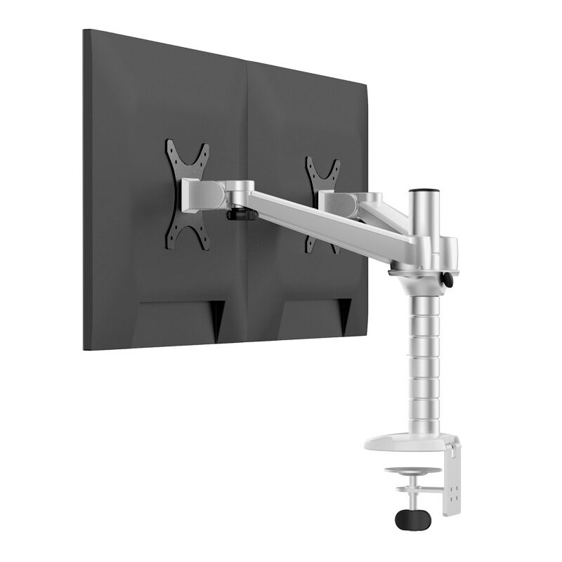 OA-4 Height Adjustable Dual LCD Monitor Holder 360 Rotation VESA Mount Stand Table Clamping Installation Max Support 23 inch kettle