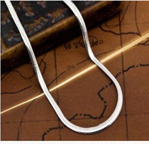 16-30 inches snake chain silver Necklace jewelry cute nice hot Beautiful fashion women men silver color charm pretty lovely