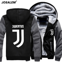 XXXXL Hoodie 2017 Fashion Anime Juventus Cosplay Jacket Men New Winter Warm Fleece Hooded Sweatshirts Man