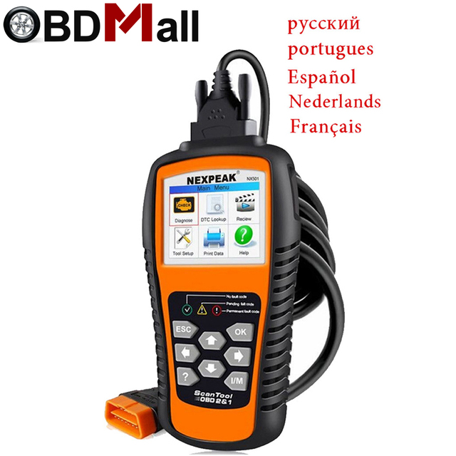 Special Price 2018 Best OBD2 Auto Diagnostic Scanner NX501 Full OBD 2 Function OBD2 Autoscanner Multi-language OBD2 Automotive Scanner Russian