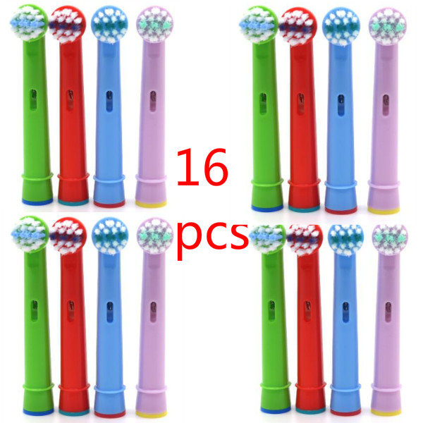 16pcs Electric Replacement ToothBrush Heads For Oral B EB-10A Kids Child Tooth Brush Heads image