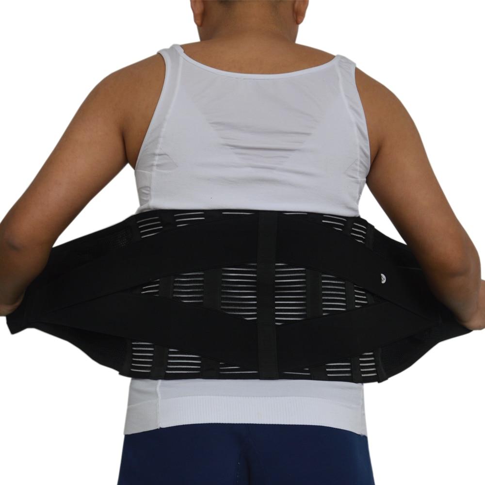 Men's Lumbar Support Belt Back Corset Men Orthopedic Back Support Belt Metal Steel Support Brace Release Pain Size S-XXXL Y015