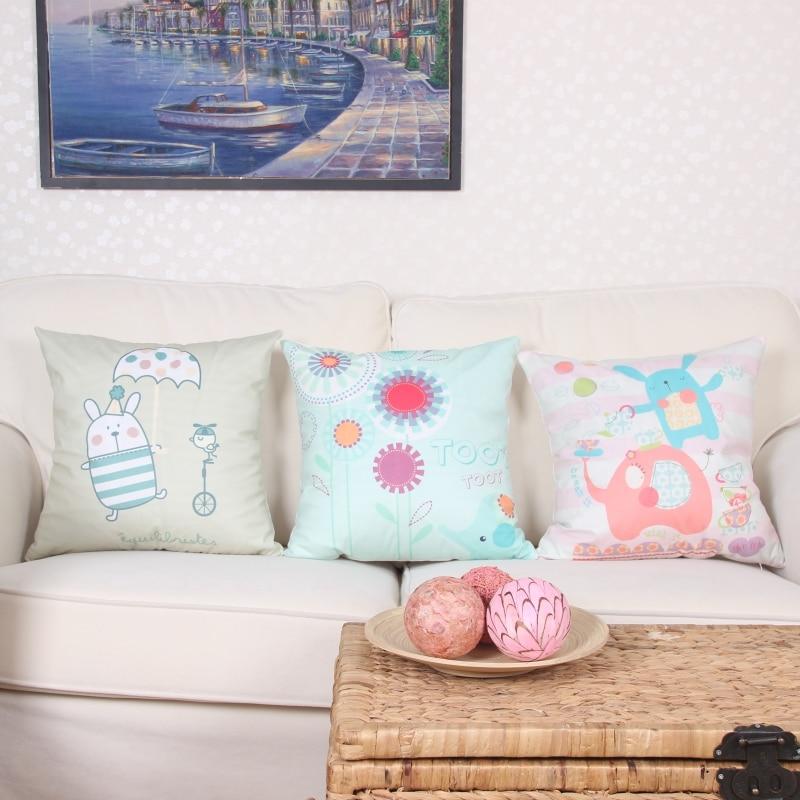 Throw Pillowcase Plush Fabric Children room Cartoon animal comfortable Decorative Cushion Home Decor for Sofa Car Seat