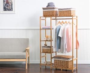 Image 3 - 自然 baboom ワードローブ多機能 burlywood 収納ラック整理器大容量の衣類ハンガーコート家庭用家具