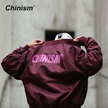 CHINISM Ma1 Bomber Jacket Mens Pilot Anarchy Outerwear Brand Printed Classic Flight Coat Streetwear Vintage Jacket Hip Hop