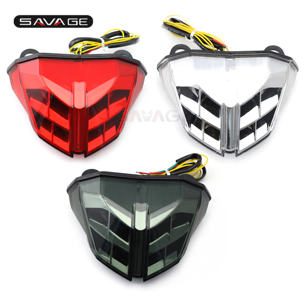LED Tail Brake Light Turn Signal For DUCATI Streetfighter 848/1100 2012 2013 2014 Motorcycle Accessories Integrated Blinker Lamp high quality motorcycle led rear turn signal tail stop light lamp integrated for kawasaki er6n 2012 2013 2014