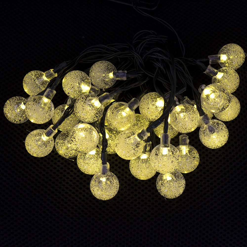 Solar Warm White Party Decoration Fairy Lights Ball String Lights Outdoor Garden Lawn So ...