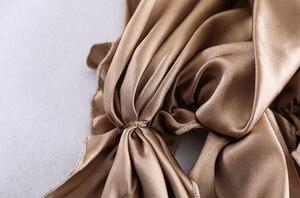 Image 4 - Đầm Ngủ Lụa Nắp Màu Trơn Nhiều Màu 100% Lụa Đêm Nắp Đêm Bọc Đầu Dành Cho Chăm Sóc Tóc Thun Sjm 02