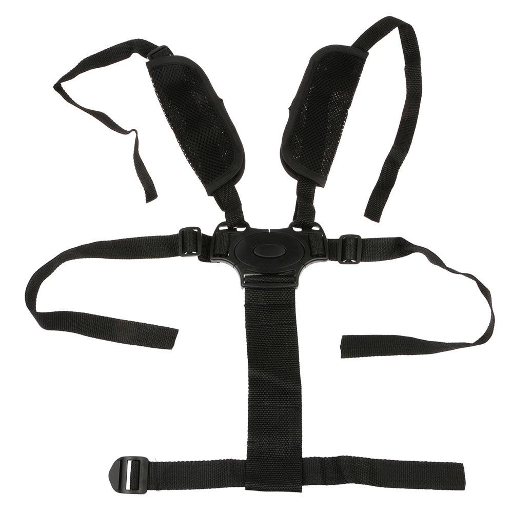 5 Point Harness Safety Buckle Stroller High Chair Pram Car Seat Belt Strap FM