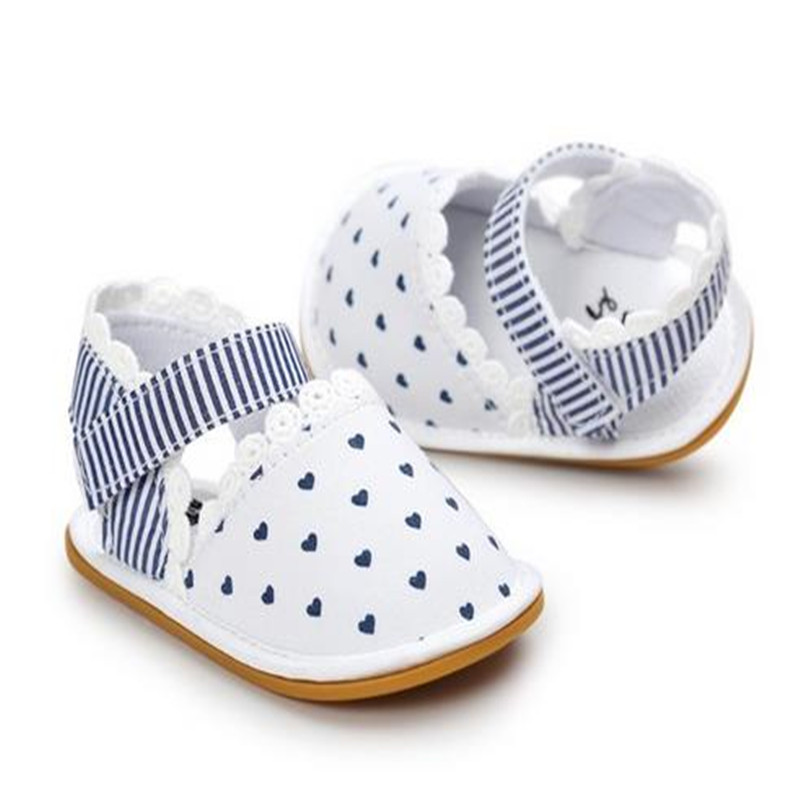Heißer Verkauf neuer Streifen Bowtie netter Babymokassinkind Sommer beschuht erste Wanderer der Mädchen Säuglingsgewebeschuhe Prewalker