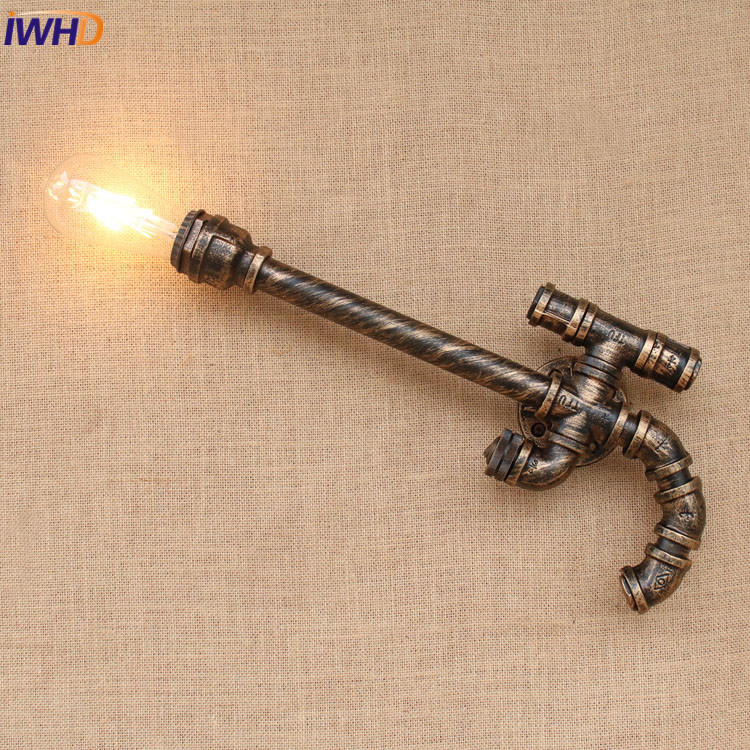 цены Retro Loft Edison Wall Lamp Witch Switch Bedroom Vintage Iron Wall Lights For Home Up Down Rustic Industrial Wall Sconce Light