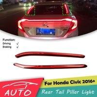 Rear Tail Pillar Light For Honda Civic 2016 2017 2018 Red LED Window Trunk Lamp