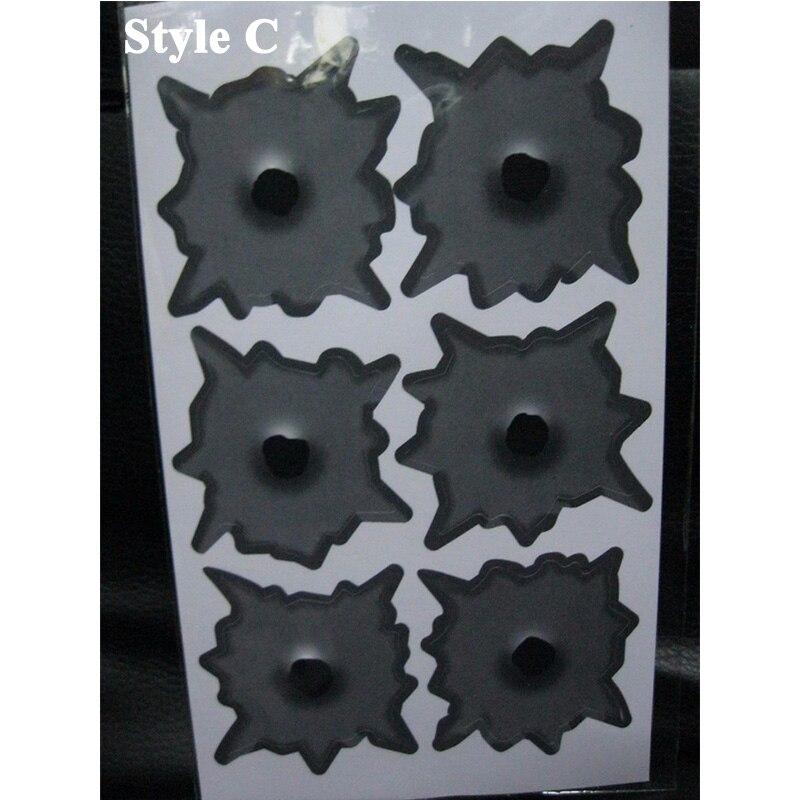 1 piezas SEEYULE Bullet hole Car Sticker car-styling 3D Shoot Hole - Accesorios exteriores para automóviles - foto 5