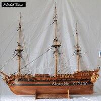 Деревянный корабль модели наборы 3d лазерная резка Модель корабль Сборка Diy поезд хобби масштаб 1/48 Ричард музей хороший уровень модель кораб