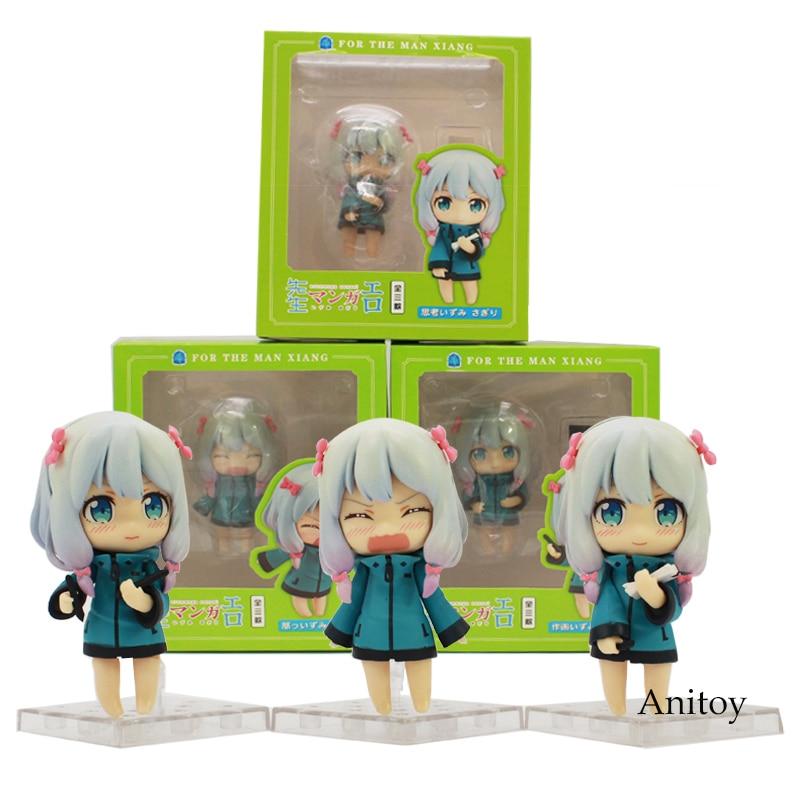 Eromanga Sensei lzumi Sagiri Q Version Nendoroid Doll PVC Action Figure Collectible Model Toy 3pce/set 8.5cm