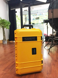 510*290*195mm Waterproof trolley case toolbox tool case Protective Camera Case equipment box with pre-cut foam shipping free