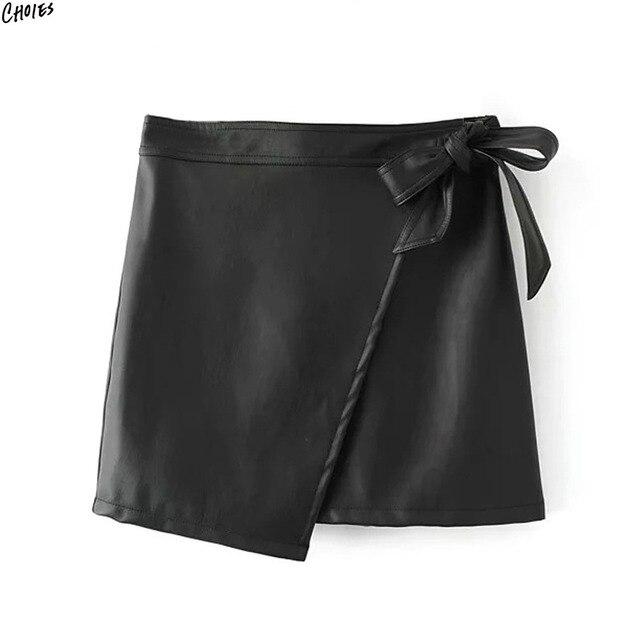 Attaché Cuir Mini Chaîne Ourlet Femmes En Jupe Asymétrique Pu Noir kwX0nP8O
