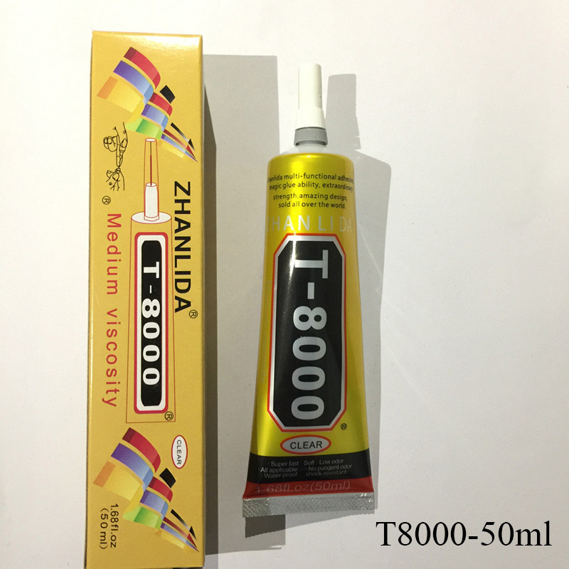 50ml DIY MultiPurpose Liquid Industrial T8000 Super Glue Strong Epoxy Resin Adhesive For Crystals Craft Stationery T-8000 Glue