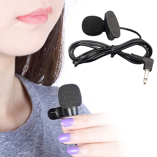 3.5mm Hands Free Computer Clip On Mini Lapel Microphone for PC Notebook Laptop