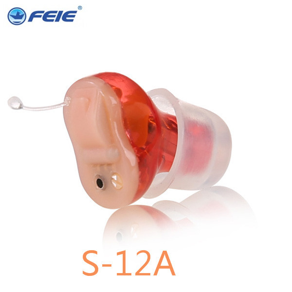 feie s-12a mini digital cic hearing aid Programmable Deaf-aid  aparelho auditivo digital earphone hospital free shipping mini invisible soft super sound quality hearing aid digital aparelho auditivo free shipping s 12a