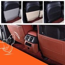 Para BMW X5 E70 F15 X6 E71 2008-2013 pcs 3 Caixa Apoio de Braço Central Traseiro Encosto Do Assento Anti- pontapé Anti-Sujo Pad Proteção Mat