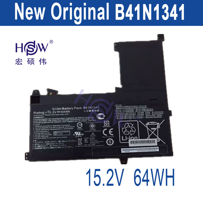 HSW New  15.2V 64Wh B41N1341 Battery For Asus Q502L Q502LA Series Laptop Battery 44wh new laptop battery for asus pu401 pu401l pu401la series c31n1303 c3ini303 c31ni303