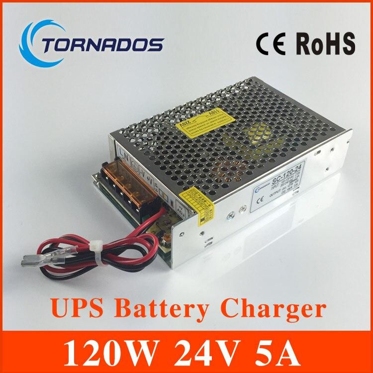 SC-120-24 120 W 24 V universal AC UPS fonction moniteur switching mode power supply smps avec fonction de charge