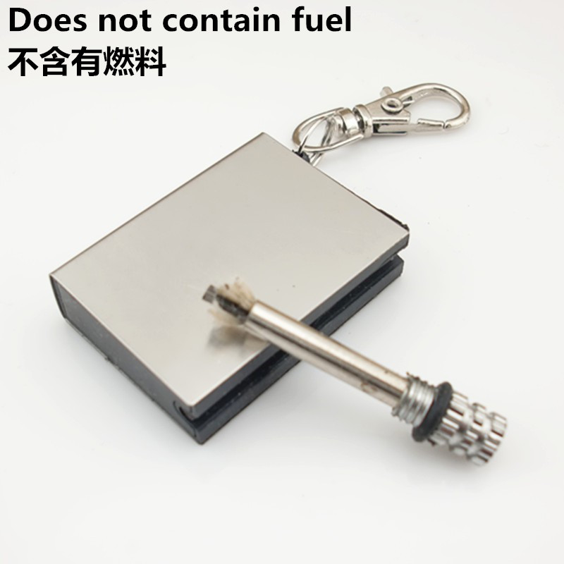 Keychain For 10000 Hair Emergency Fire Starter Flint Match Lighter Metal Outdoor Camping Hiking Instant Survival Tool