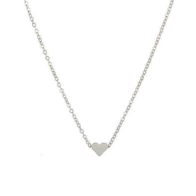 brixini.com - Tiny Dainty Heart Initial Necklace