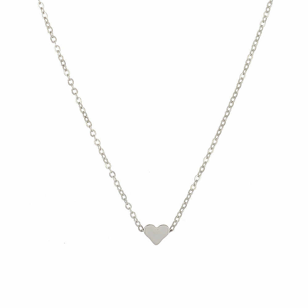 Moda tiny dainty coração inicial colar personalizado carta colar nome jóias para acessórios femininos presente namorada