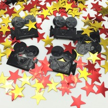 Hollywood Confetti  Movie Camera Star Party Tableware Decorations Awards Night Stars Red Carpet VIP Decor