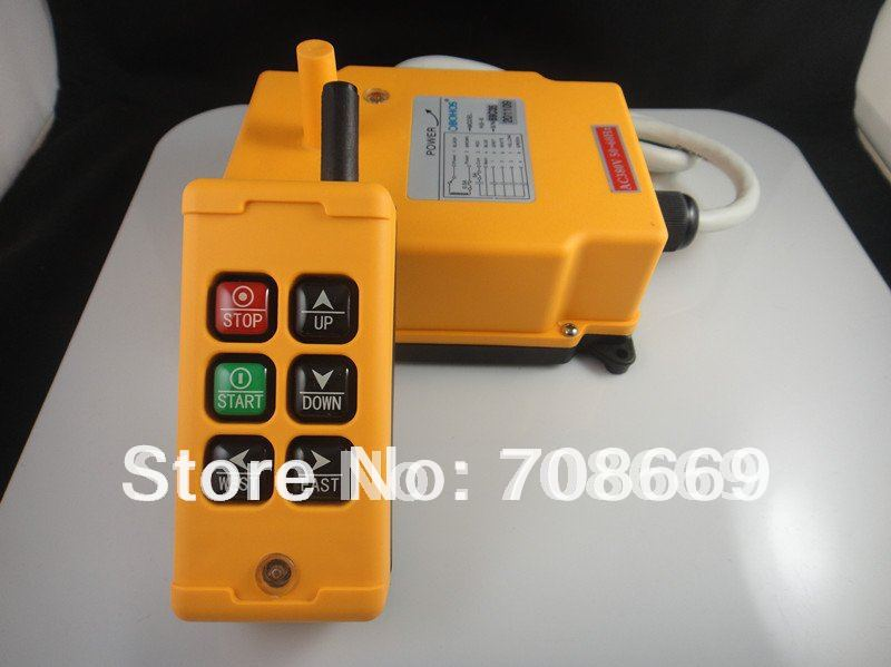 6 Channels Control Hoist Crane Radio Remote Control System-in Switches from Lights & Lighting