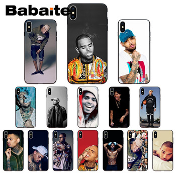 for iphone 11pro max Babaite Chris Brown Breezy Drawing Phone Case cover Shell for iPhone X XS MAX 6 6S 7 7plus 8 8Plus 5 5S XR image
