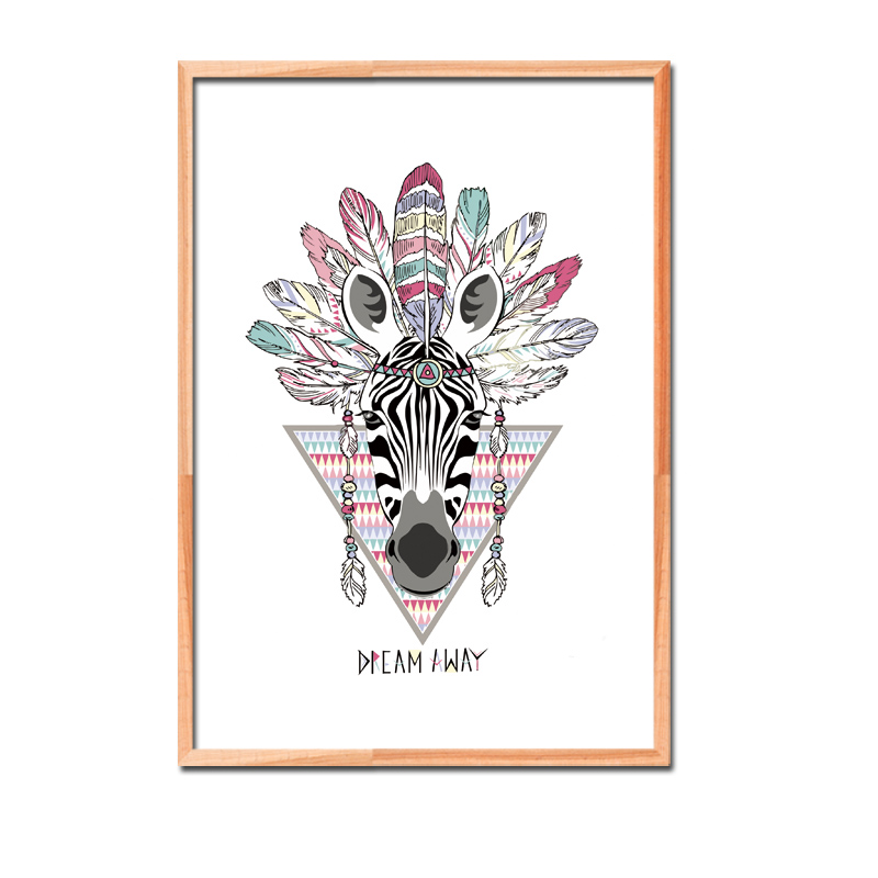 Cartoon Indian Style Animals Canvas Art Printing Posters And Prints Wall Pictures For Kids Room Decoration Home Decor No Frame in Painting Calligraphy from Home Garden