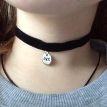 KPOP Black BTS Leather Necklace