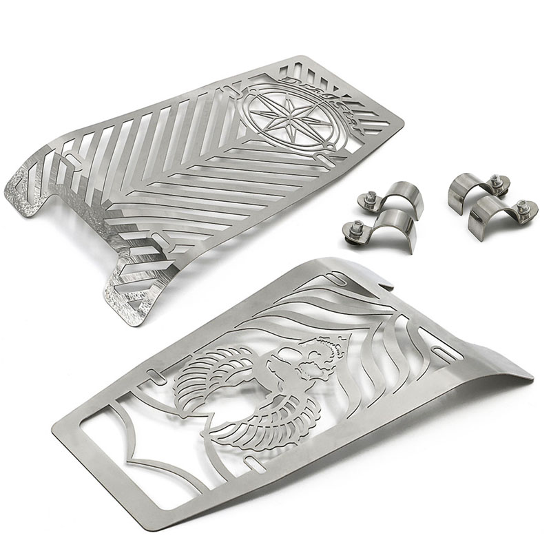 For YAMAHA XVS1100 Drag Star Classic Custom 1999 2012 Motorcycle Radiator Grille Guard Cover Protector Water