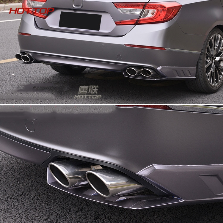 universal twin double dual chorme curved exhaust tailpipe tail pipe for honda accord 10th 2018 2019 stainless steel