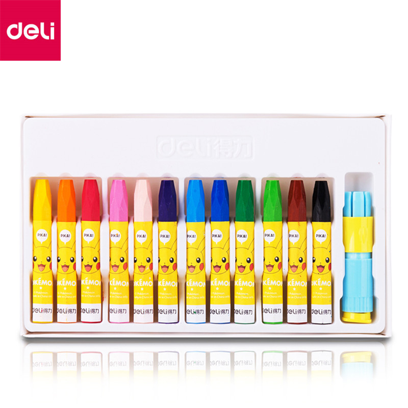 Deli 12/18/24/36 Colors/Set Painting Crayons Soft Pastel Art School Stationery Drawing Oil Pastel 24 colors oil pastel crayons child support non toxic art tools pen stationery painting the nursery pupils new wholesale