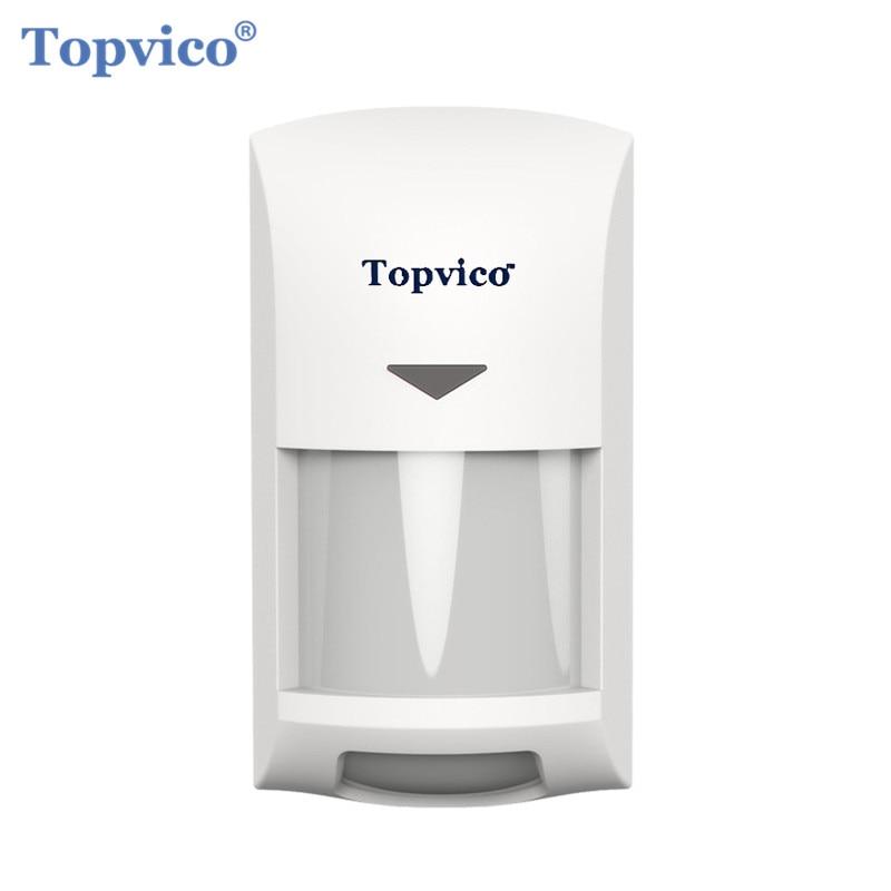 €26.8 43% de réduction|Topvico Zwave détecteur de mouvement détecteur alarme z wave Z wave sans fil infrarouge capteur de mouvement systèmes de sécurité domotique intelligents|system security|systems...
