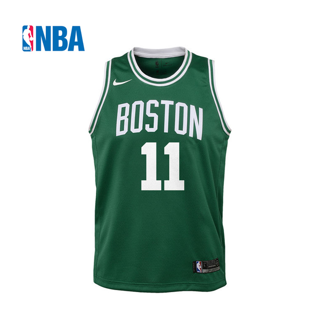 e0ed9c534 Original NBA Jerseys Youth Boston Celtics NO.11 Kyrie Irving Nike Green  Icon Edition Swingman Jersey