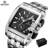 Megir new business men's quartz watches fashion brand chronograph wristwatch for man hot hour for male with calendar 2018 NEW