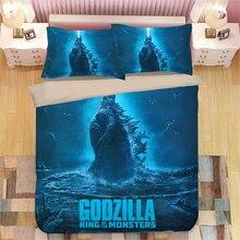 Godzilla Gojira 3D bedding set  Duvet Covers Pillowcases Cartoon anime Monster comforter sets bedclothes bed linen