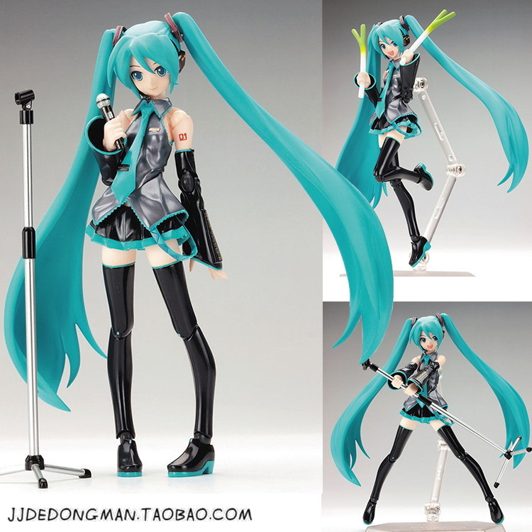 New Anime VOCALOID Hatsune Miku Figma 014 PVC action figure Model Doll kids toy free shipping 6 volcaloid hatsune miku with guitar ver boxed 14cm pvc action figure collection model doll toy figma 200