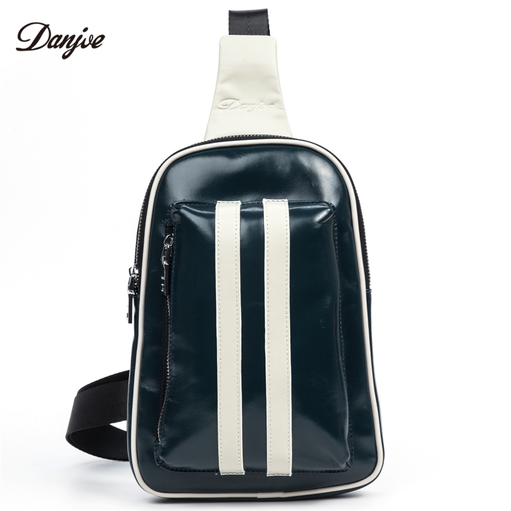 DANJUE Genuine Leather Men chest bag Pack Waterproof Chest pack bags male Casual small back pack Messenger Shoulder Bag daypack man canvas chest bag fashion messenger casual travel chest bag back pack men s single shoulder bags small travel chest pack