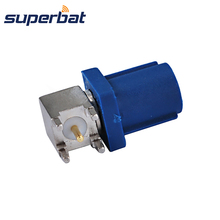 Superbat Fakra C Blue/5005 Plug Male PCB Mount Right Angle for Car GPS Telematics or Navigation Antennas Connector Pionner JVC