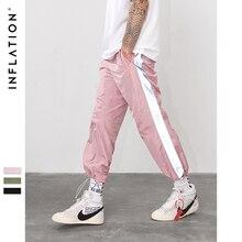 Инфляция сторона отражают свет лента jogger Брюки Спортивная винтажная брюки 2018 новые модные повседневные брюки брендовая одежда 8880 Вт